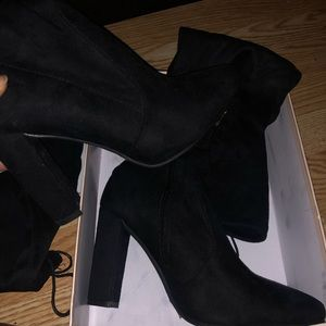 (NEVER WORN) SIMMI SHOES BLACK THIGH HIGH BOOTS